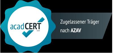 Wir sind zertifiziert nach AZAV